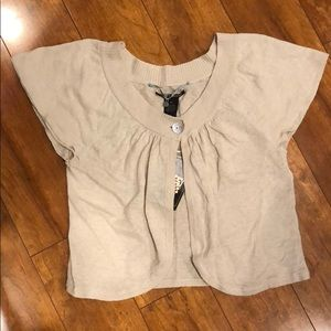 Lucky brand open front tunic NWT size xs